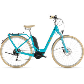 Cube Elly Ride Hybrid 400 E-stadsfietsen Dames Easy Entry blauw/turquoise